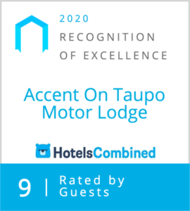 Accent on Taupo - Hotels Combined 2020 Recognition of Excellence